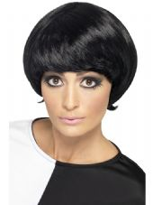 1960's Psycodelic Wig In Black